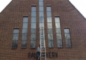 Kerk glas in lood in Amstelveen